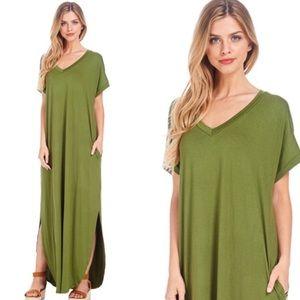 🌼Sale🌼Christie V-Neck Pocket Maxi Dress
